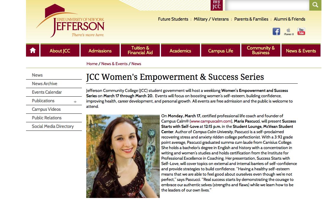 Jefferson Community College Speaker Article