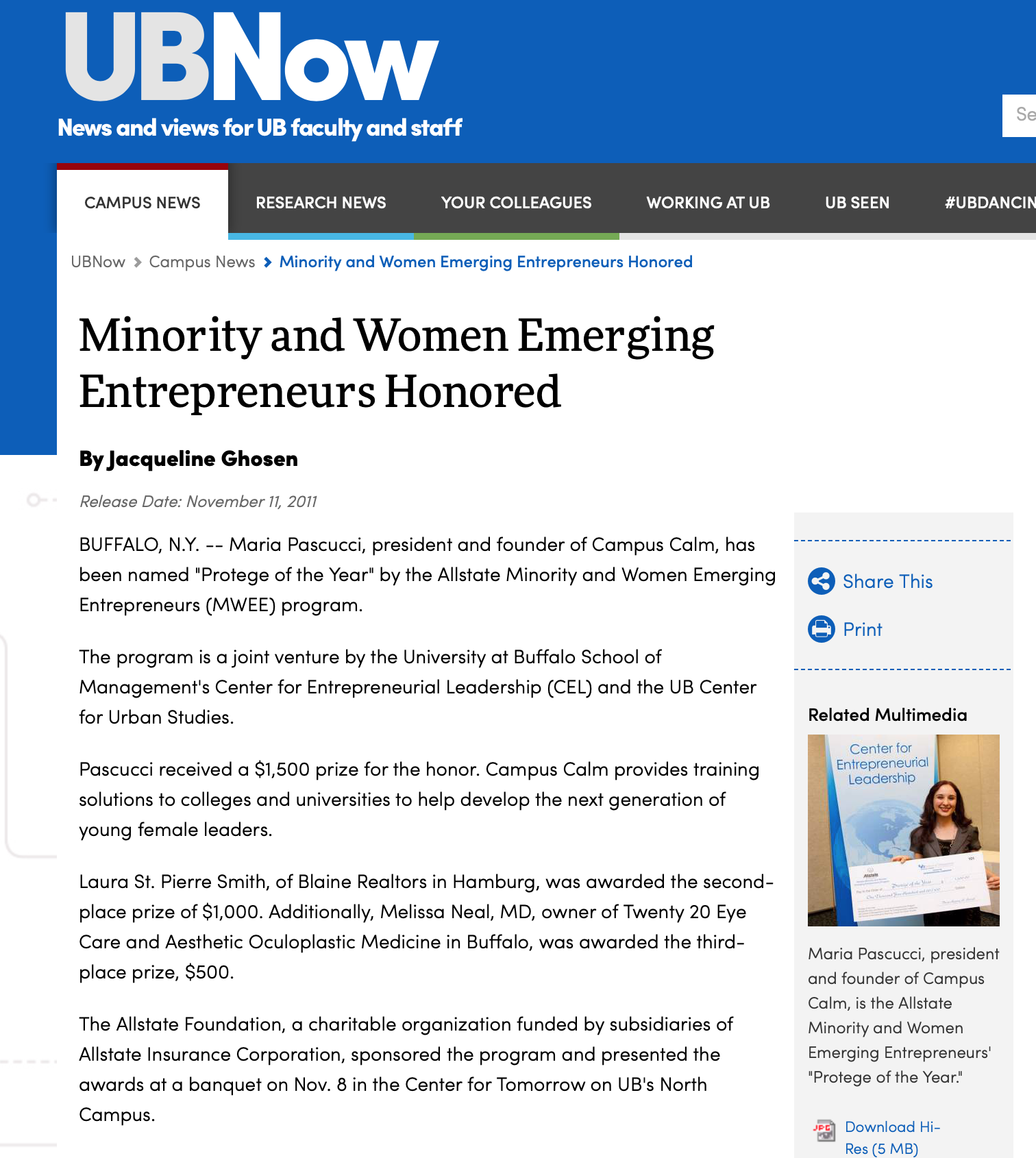 Emerging Entrepreneur Article